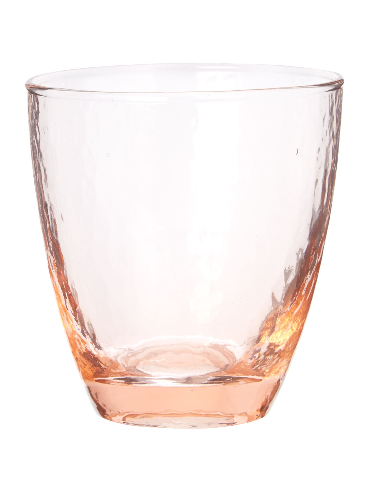 Ice pattern water glass in pink