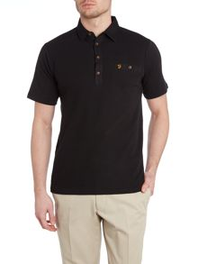 Farah Lester Regular Fit Textured Front Polo Shirt