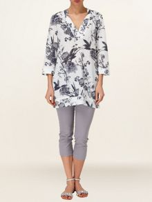 Blanche floral linen tunic