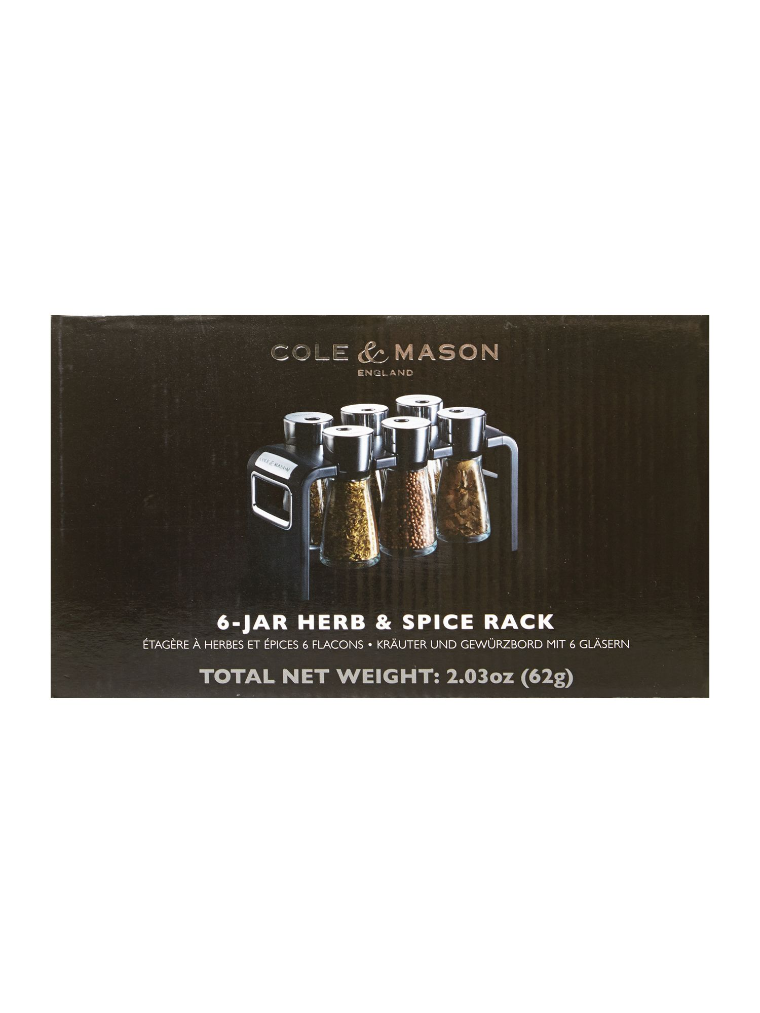 6 Jar Spice Rack