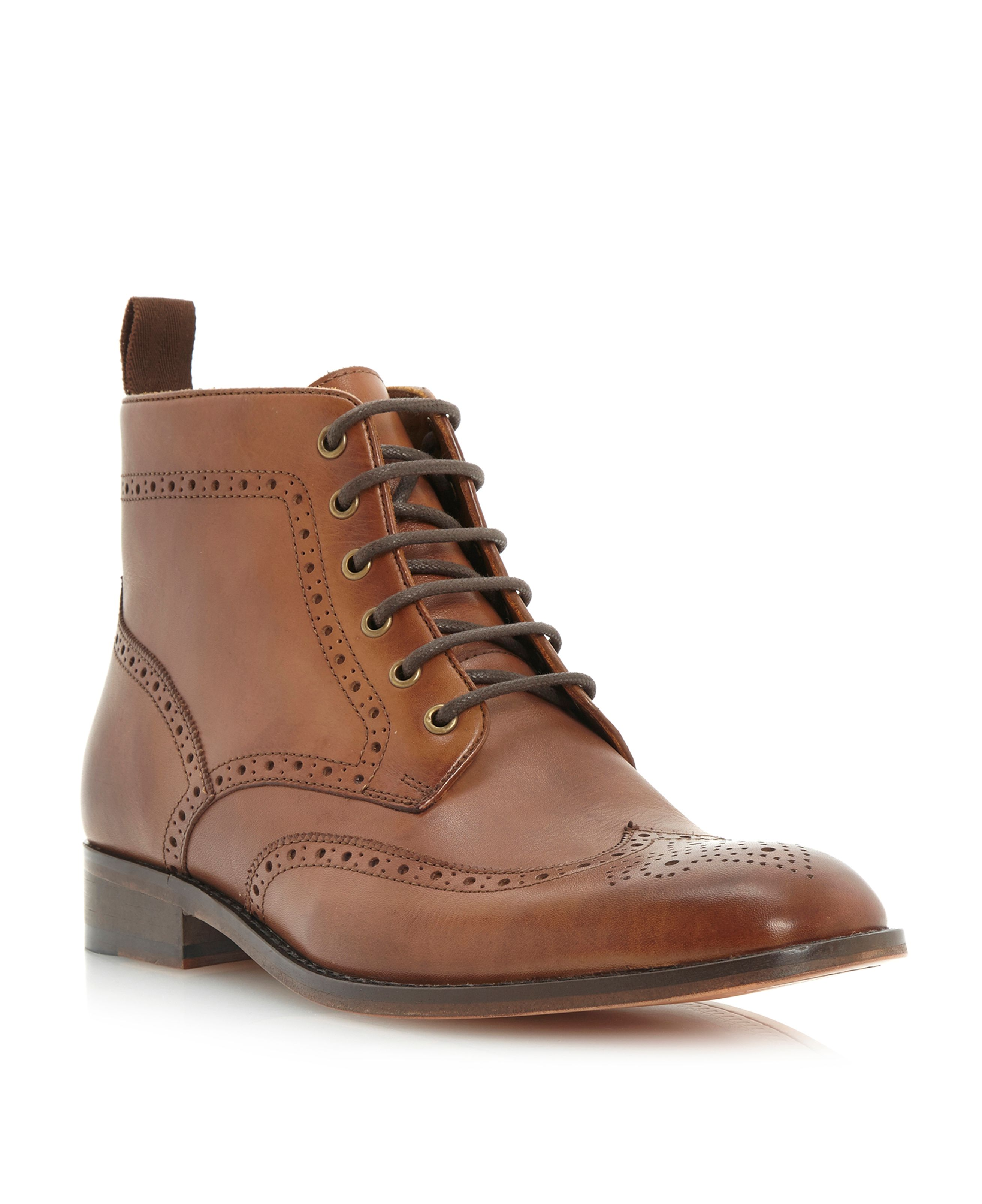 Marylebone brogue lace boot