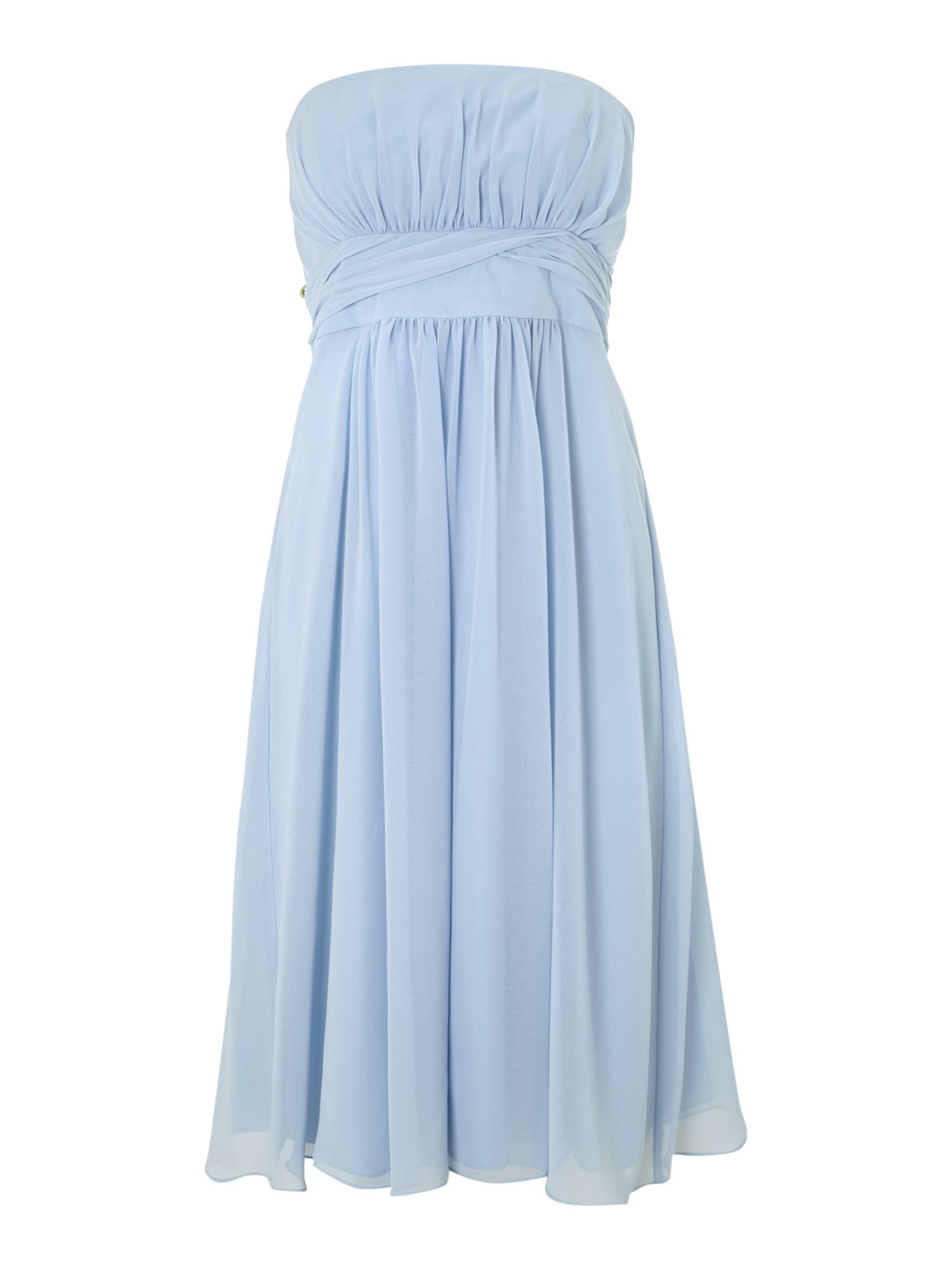 Strapless Bridesmaid Chiffon Dress