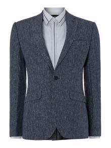 Kenneth Cole Casperkill slim fit linen blazer