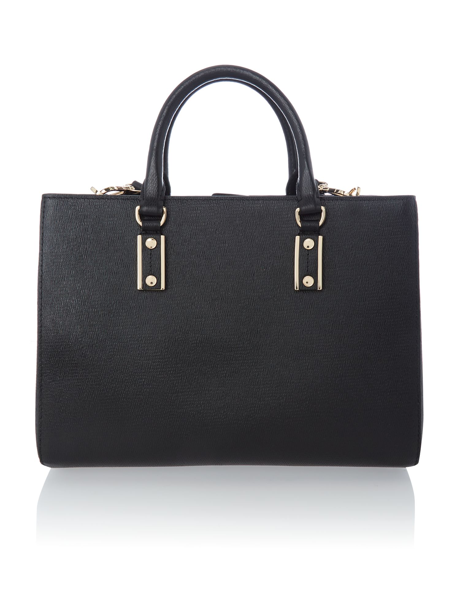 Mila black tote bag