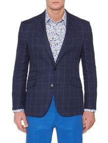 Gelt Ticket Pocket Blazer with Elbow Patches
