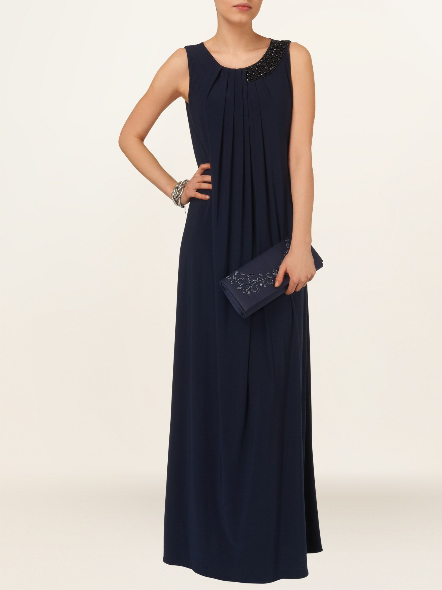 Liz beaded trim maxi dress