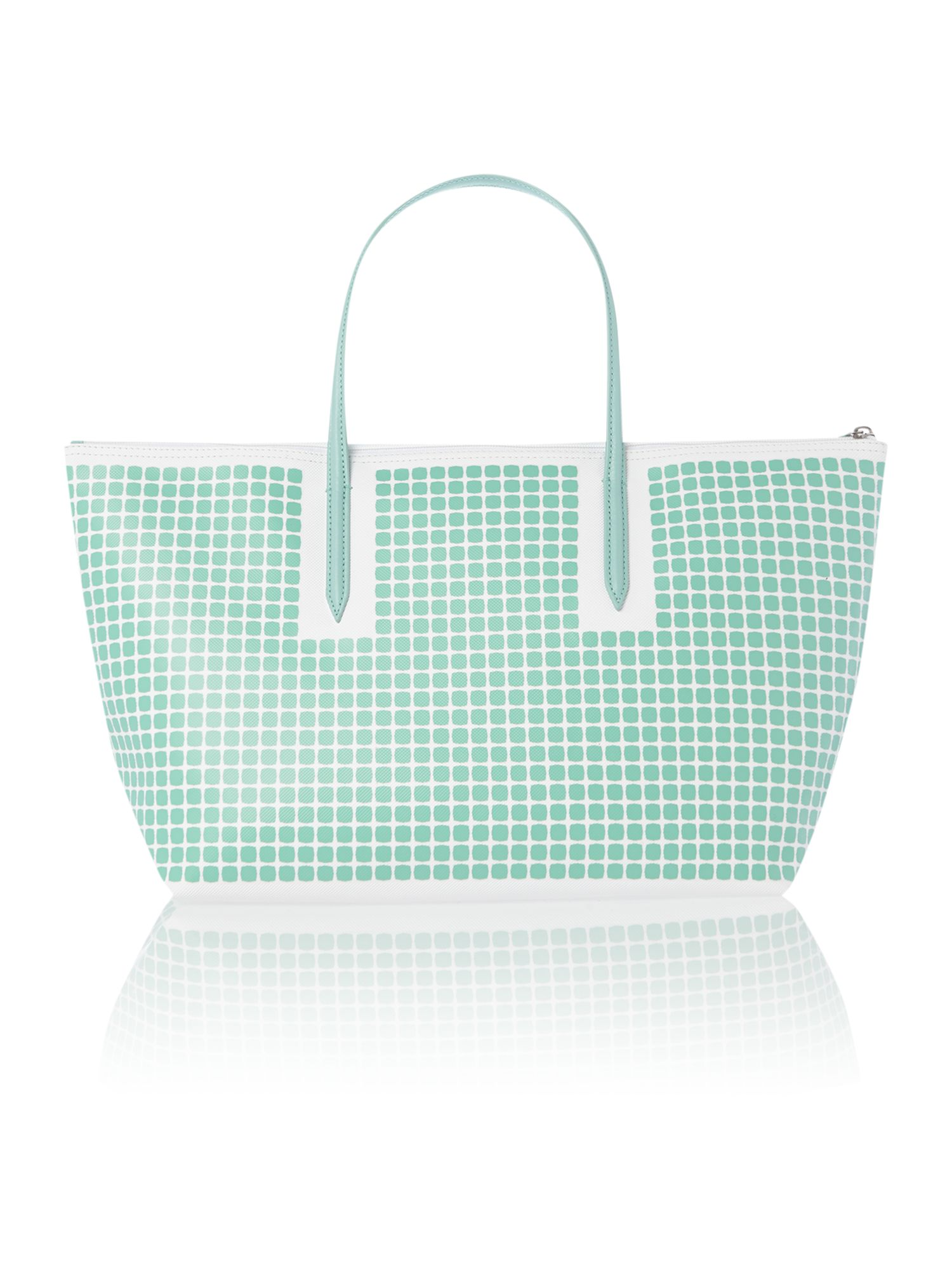 Green print tote bag