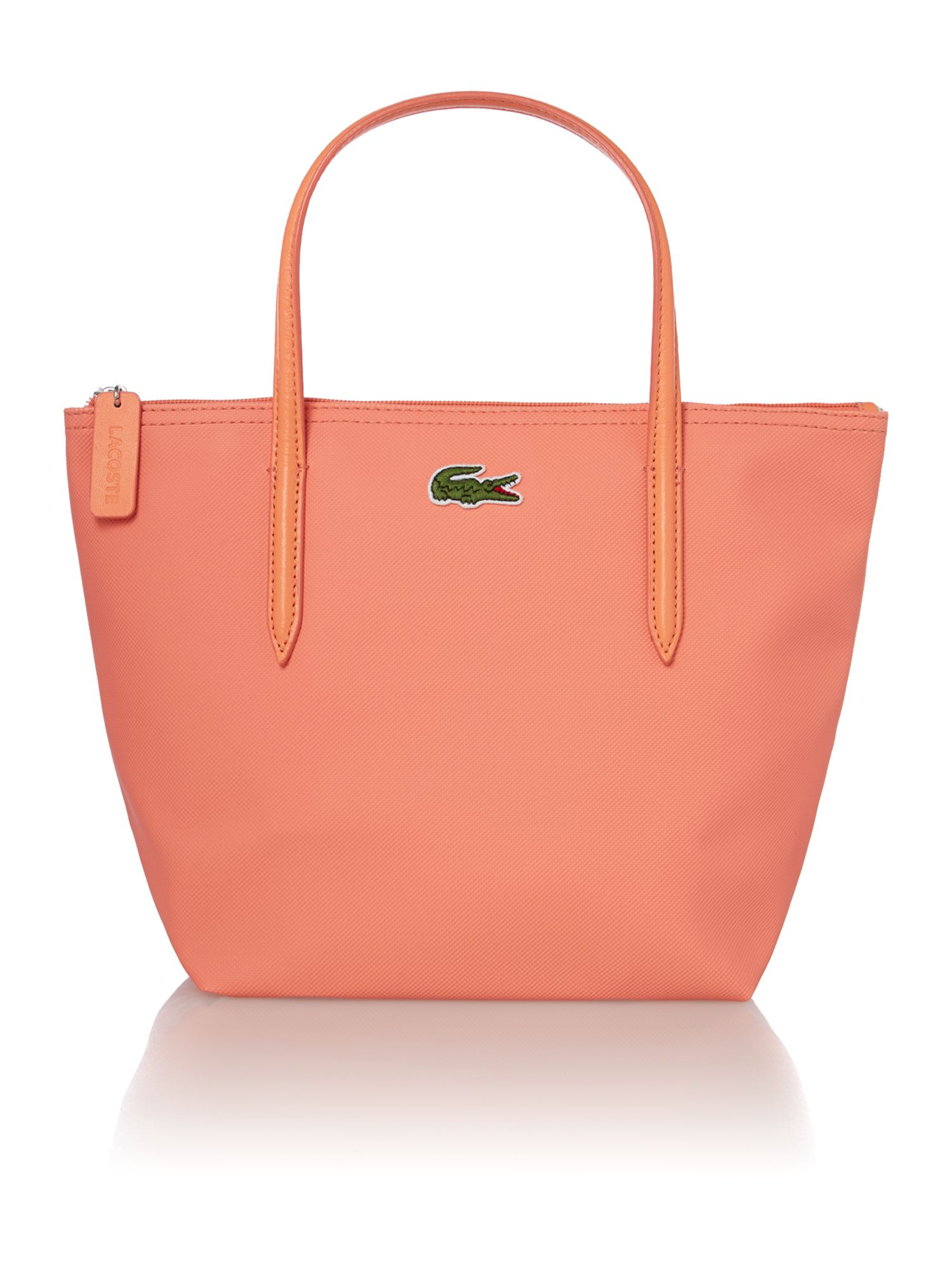 Coral small tote bag