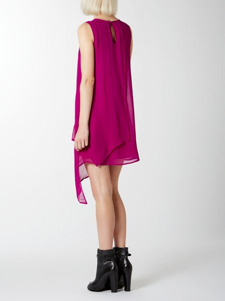 Label Lab Layered Asymmetric Dress With Necklace Detail