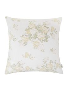 Oversized bloom print cushion