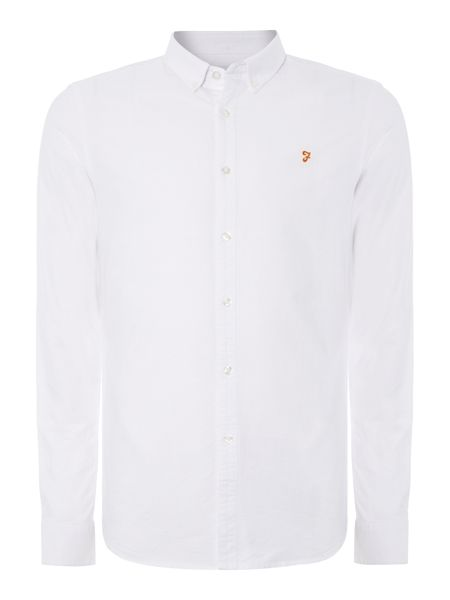 Brewer slim fit button down oxford shirt