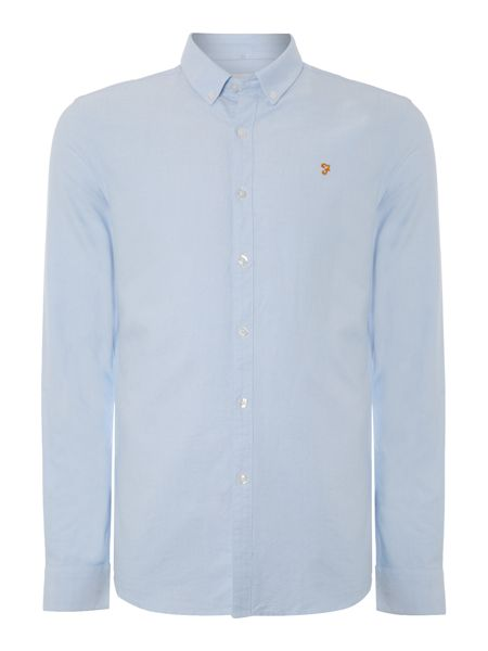 Farah Brewer slim fit button down oxford shirt
