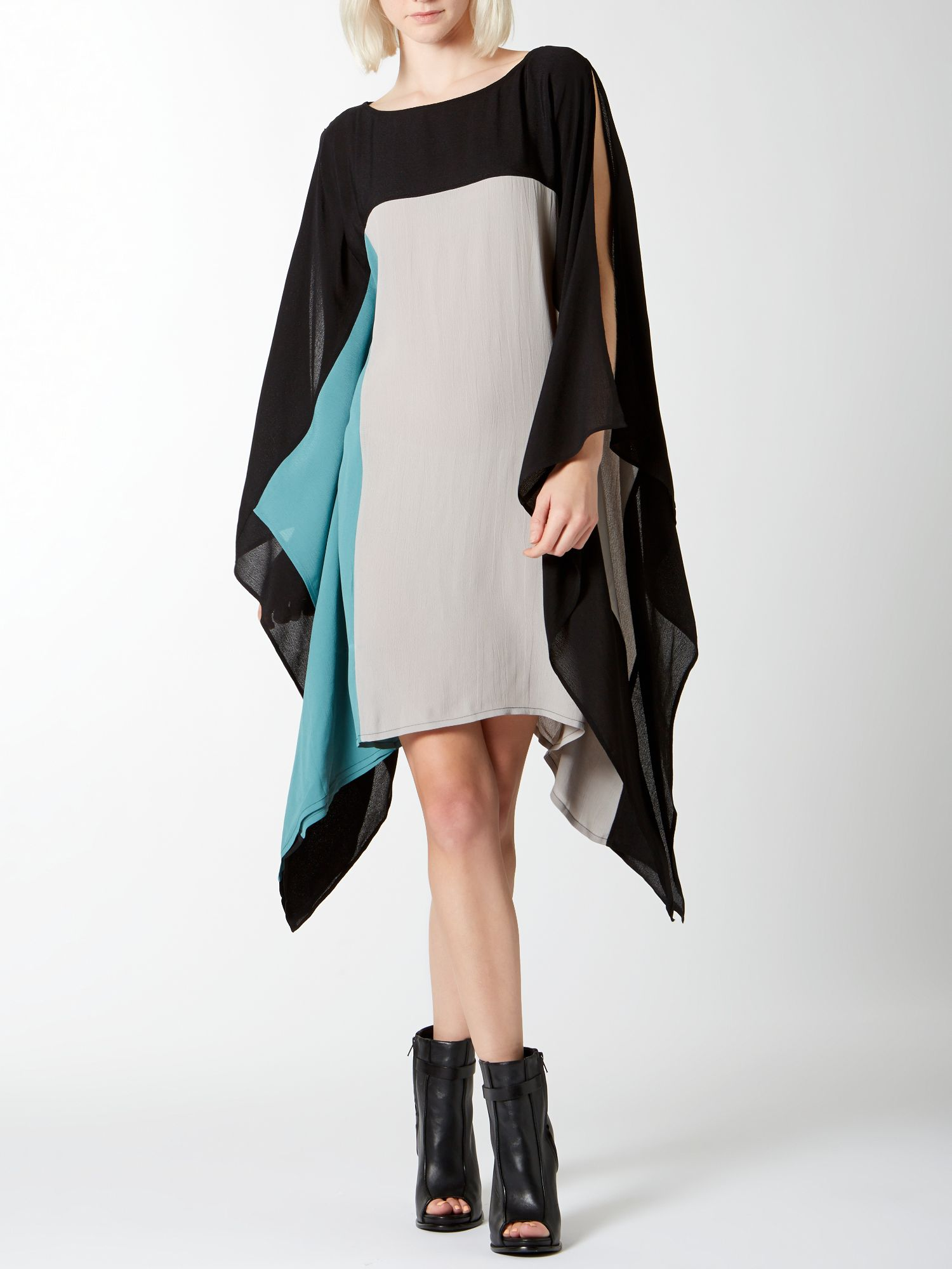 Colour block oversize dress