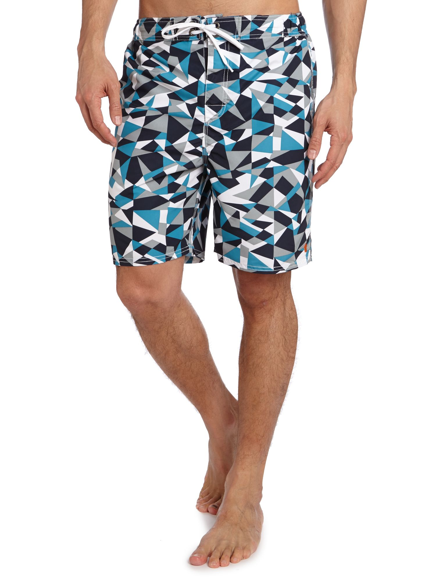 Geometric print swim short