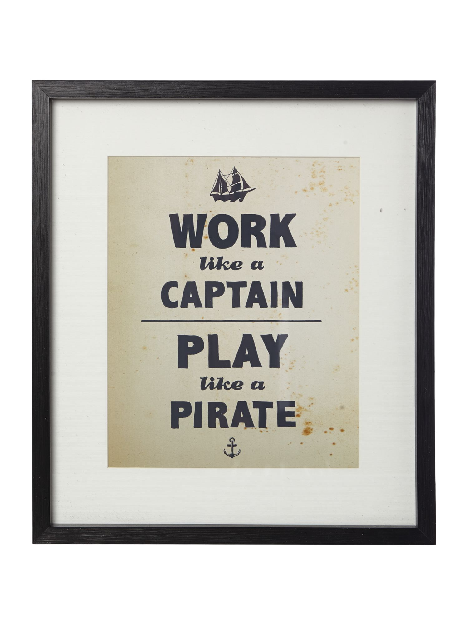 Work like Captain wall art