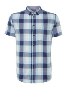 Madras check short sleeved shirt