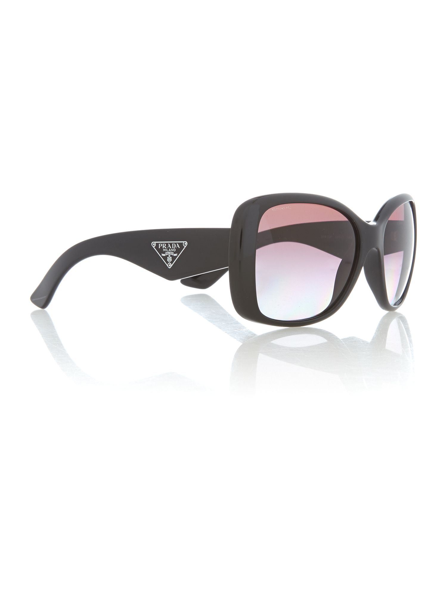 Ladies black square sunglasses