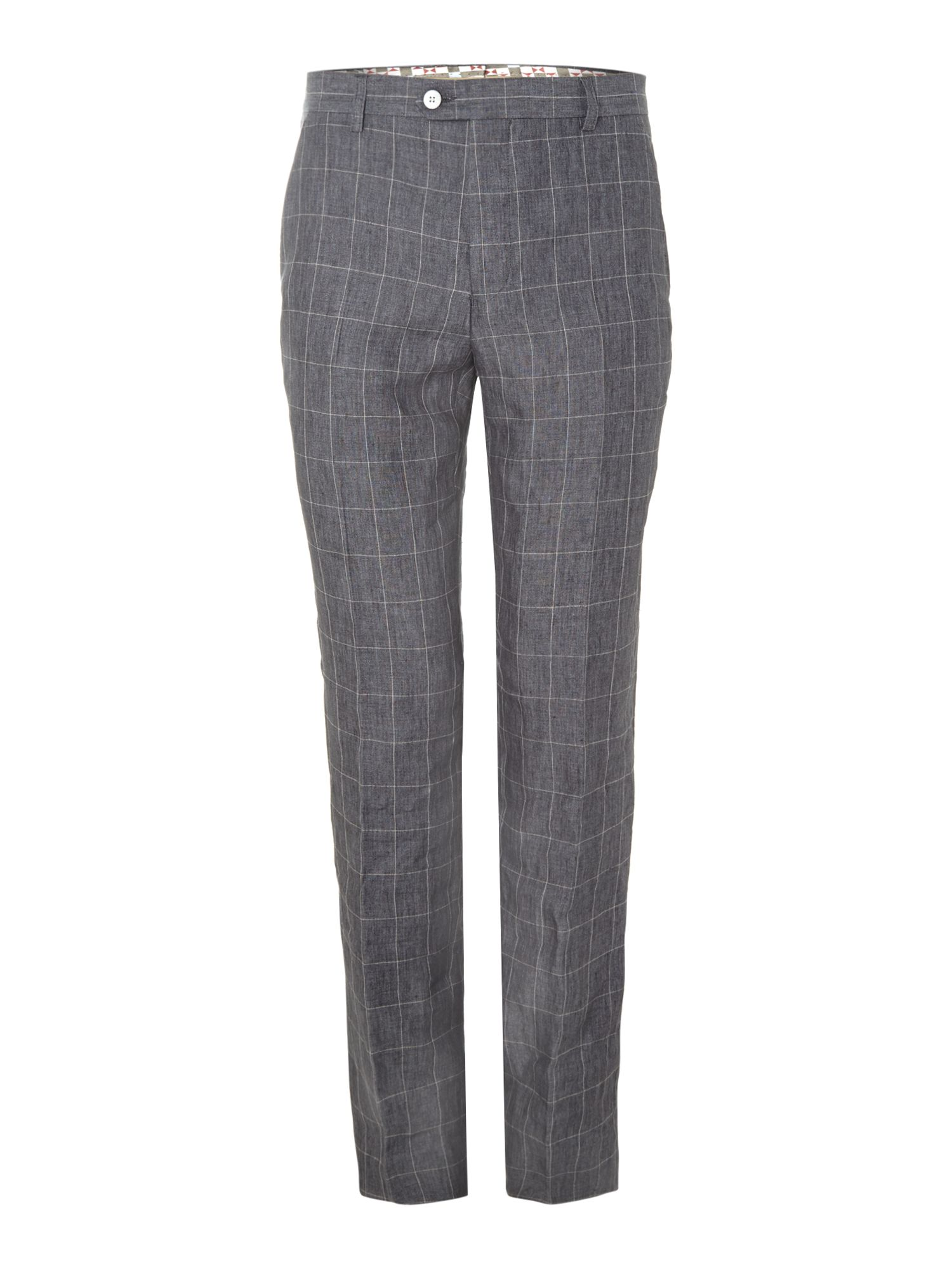 Pietro slim fit windowpane check trouser