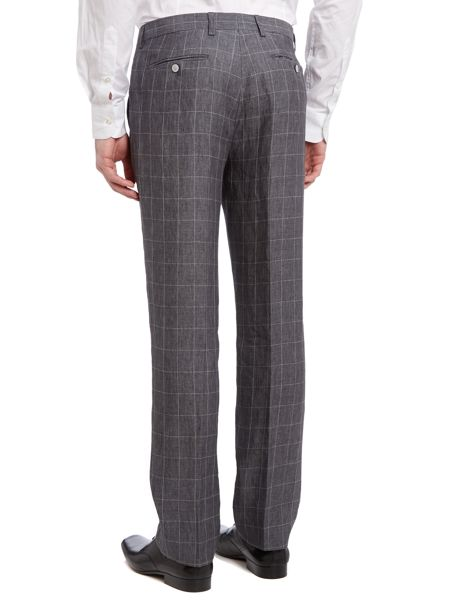 Ted Baker Pietro slim fit windowpane check trousers