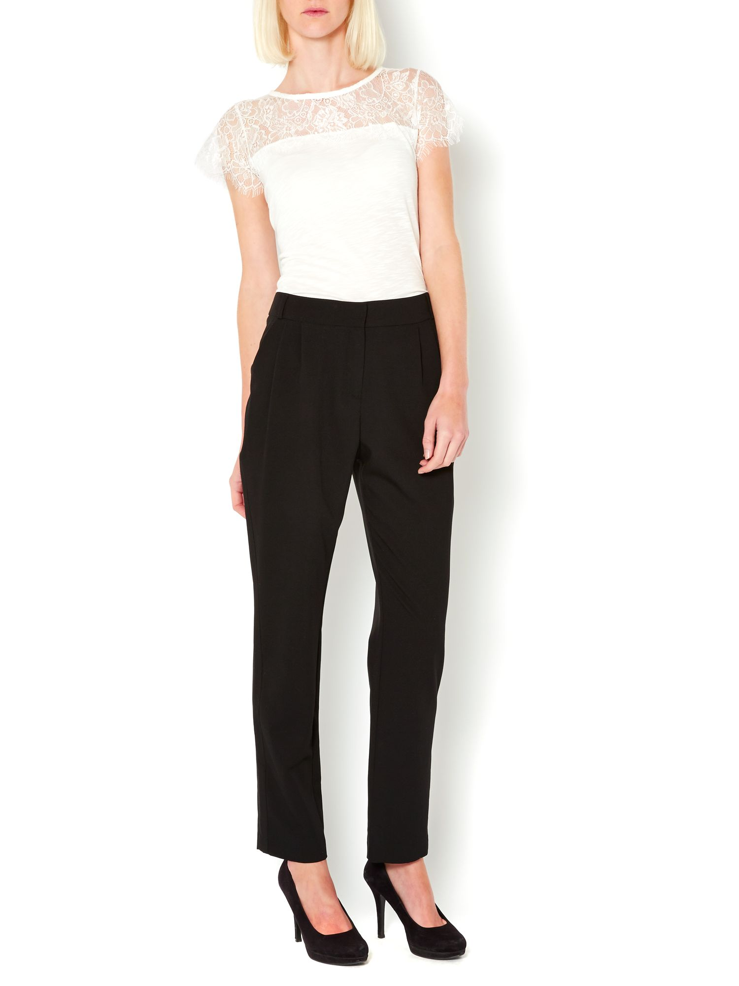 Tailored pleat detail trousers