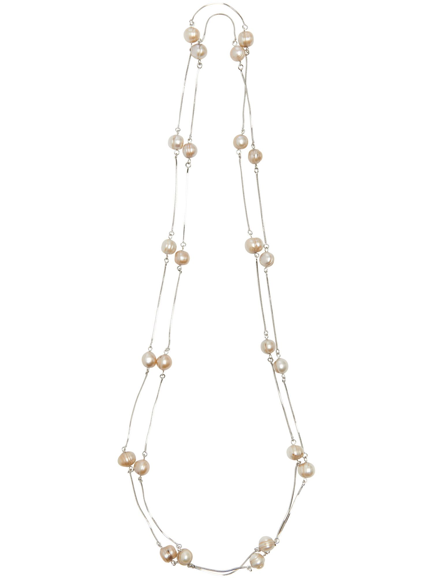 Delilah pearl and chain necklace