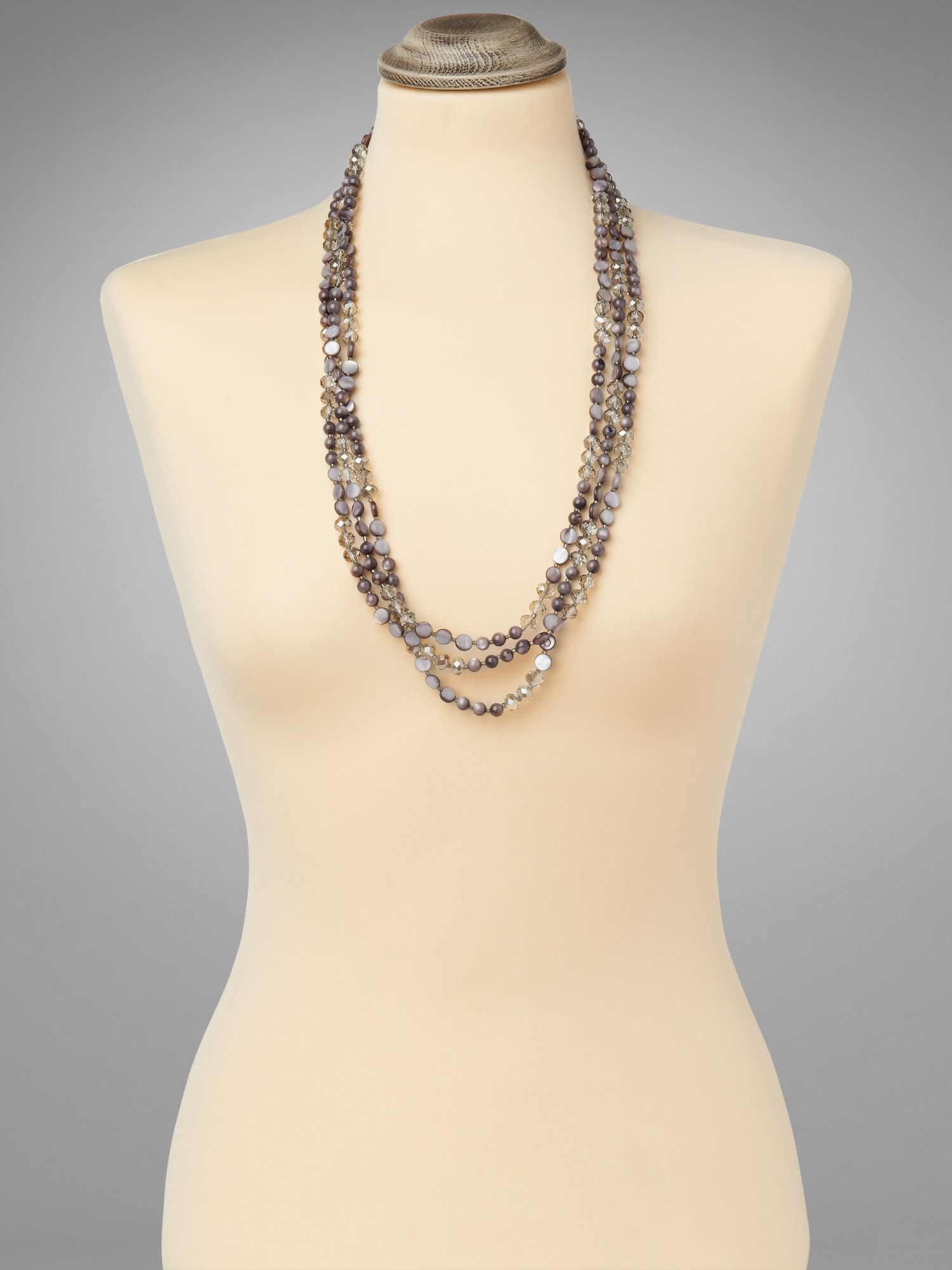 Effie long beaded necklace