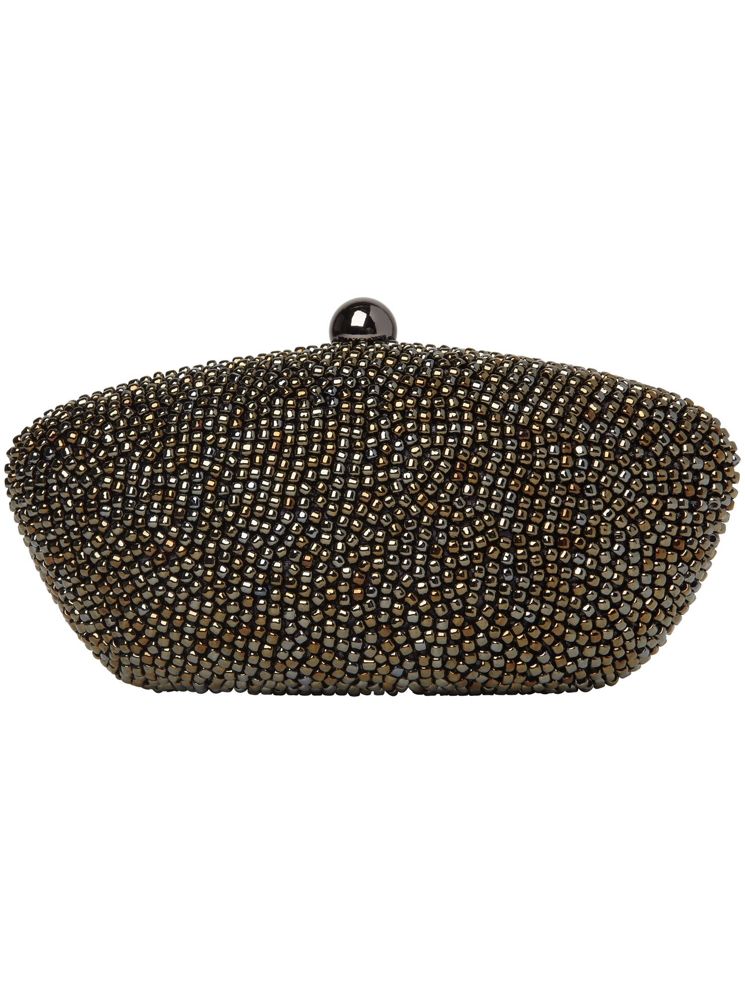 Beverley beaded box clutch bag