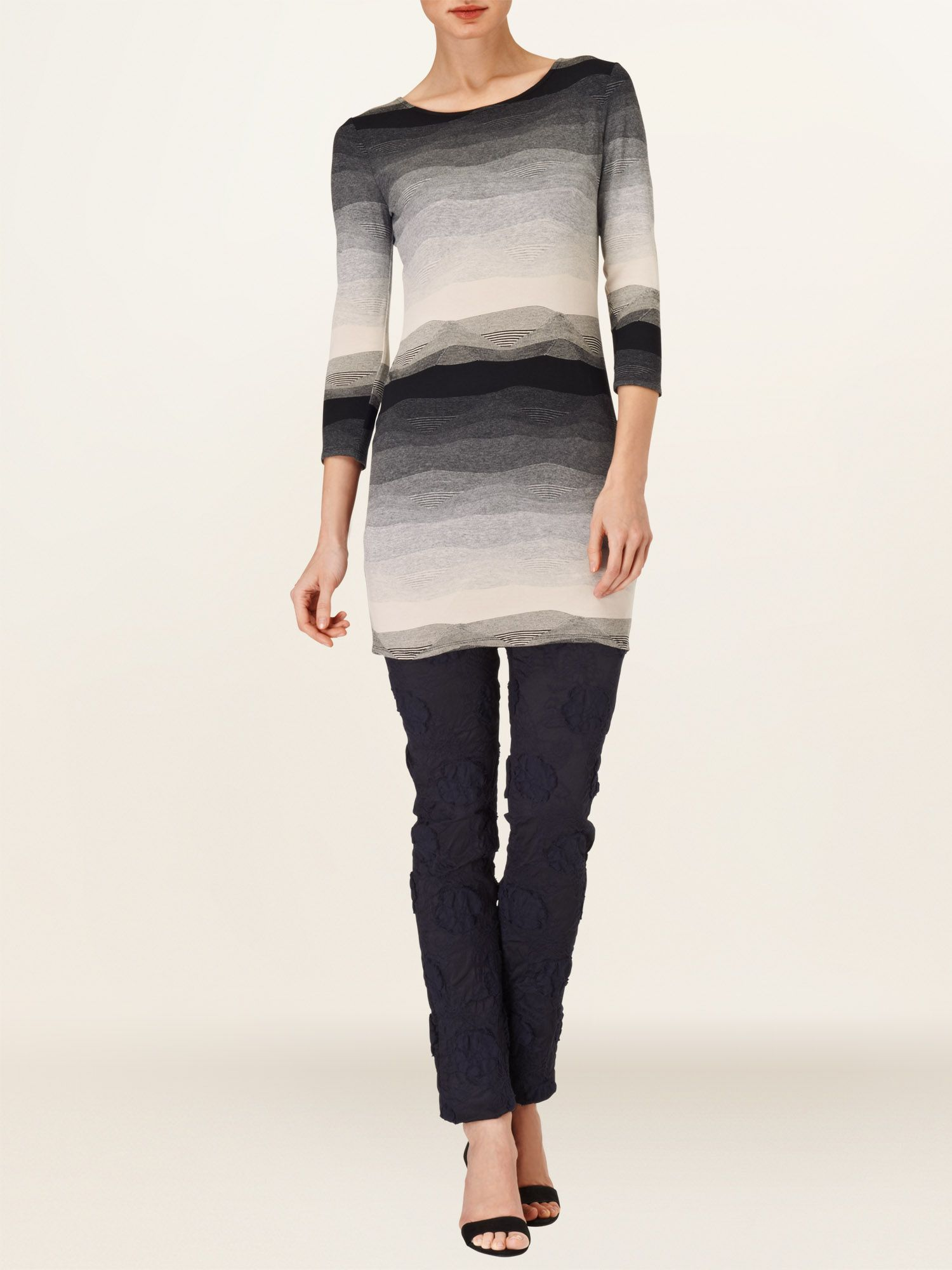 Textured stripe tunic