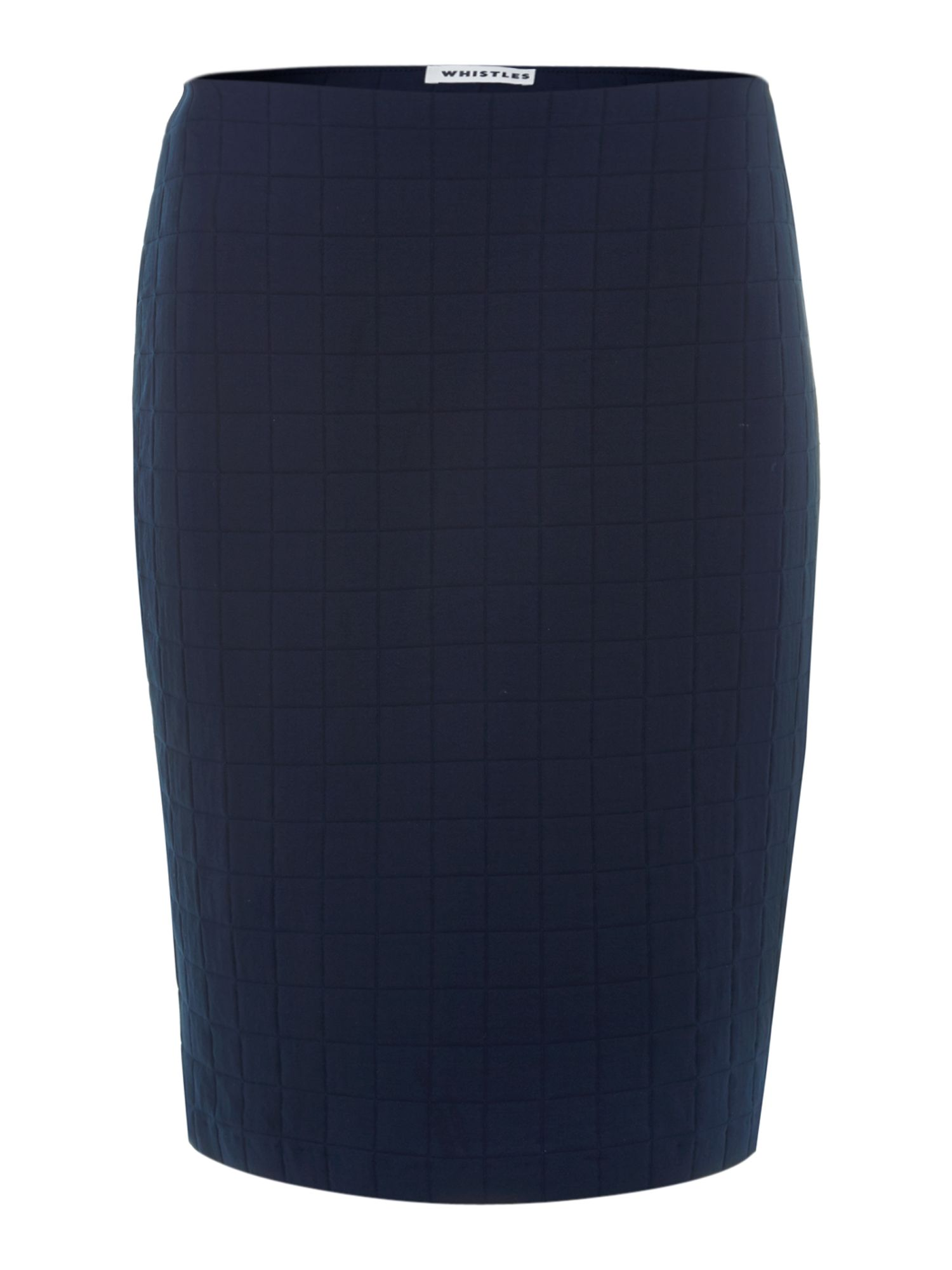 Grid jacquard tube skirt