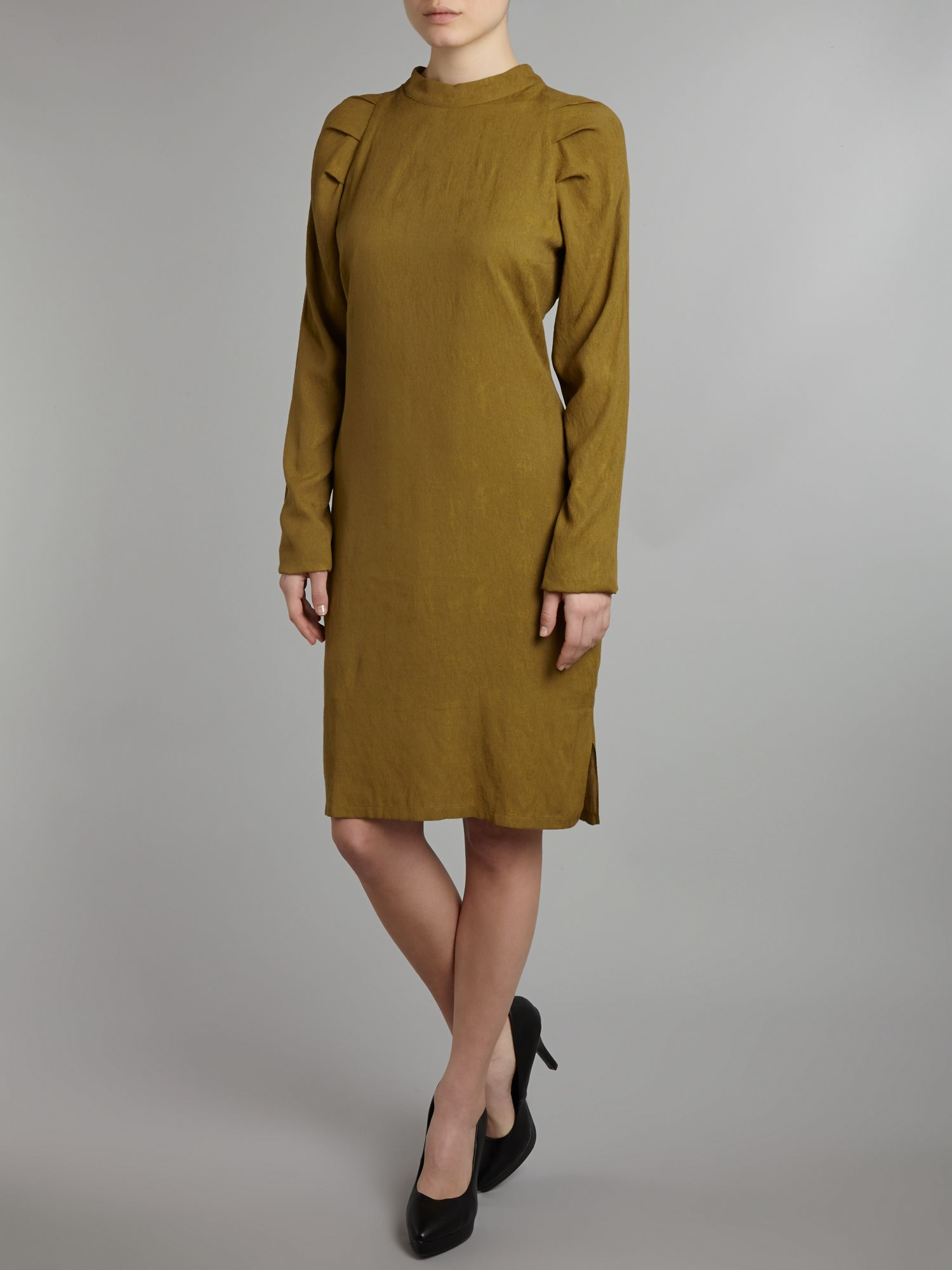 Pensa high neck raglan sleeve dress
