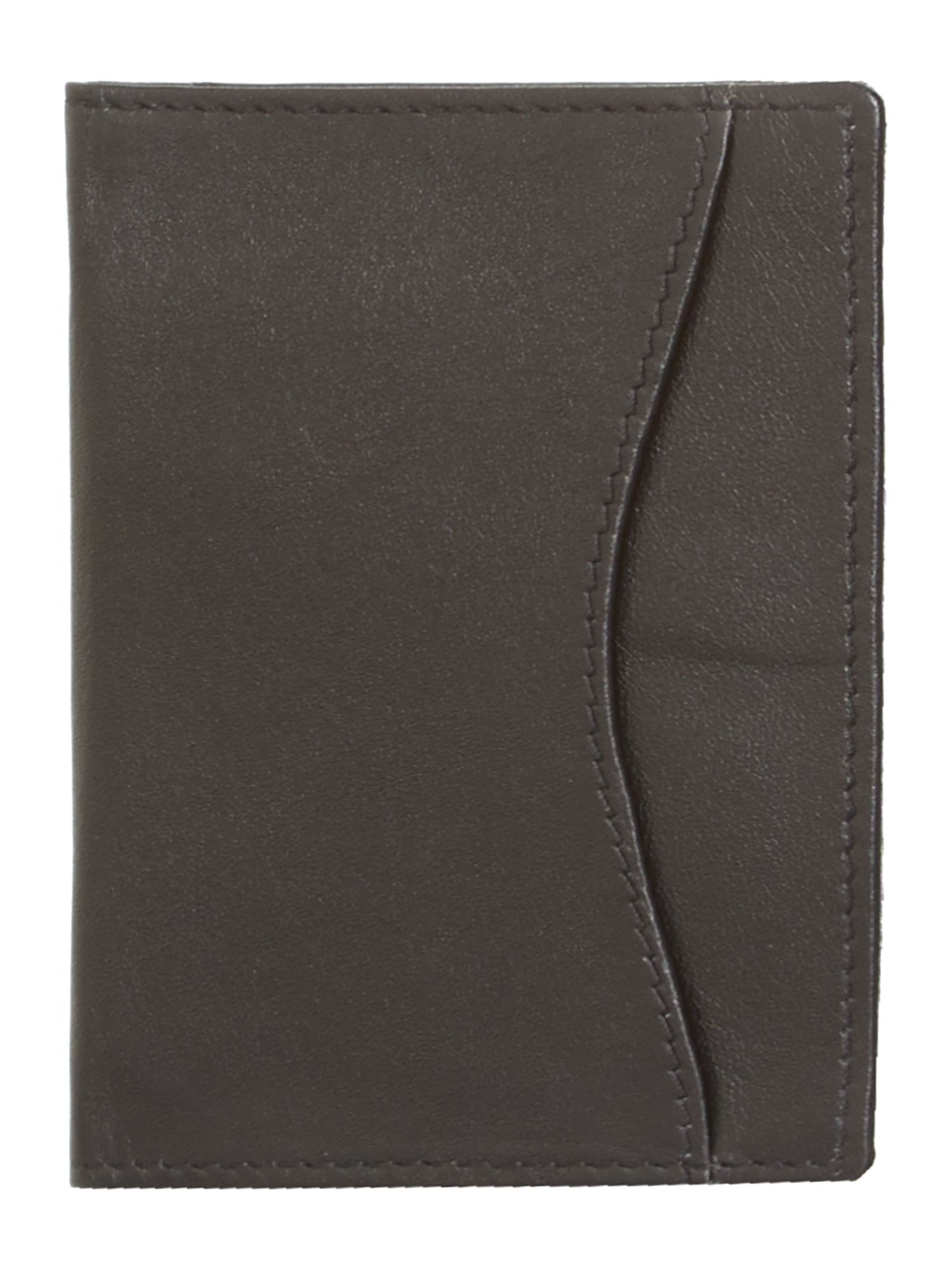 Leather ID and travel card holder