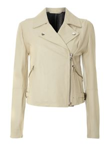 Sportmax Code Vicenza leather biker jacket