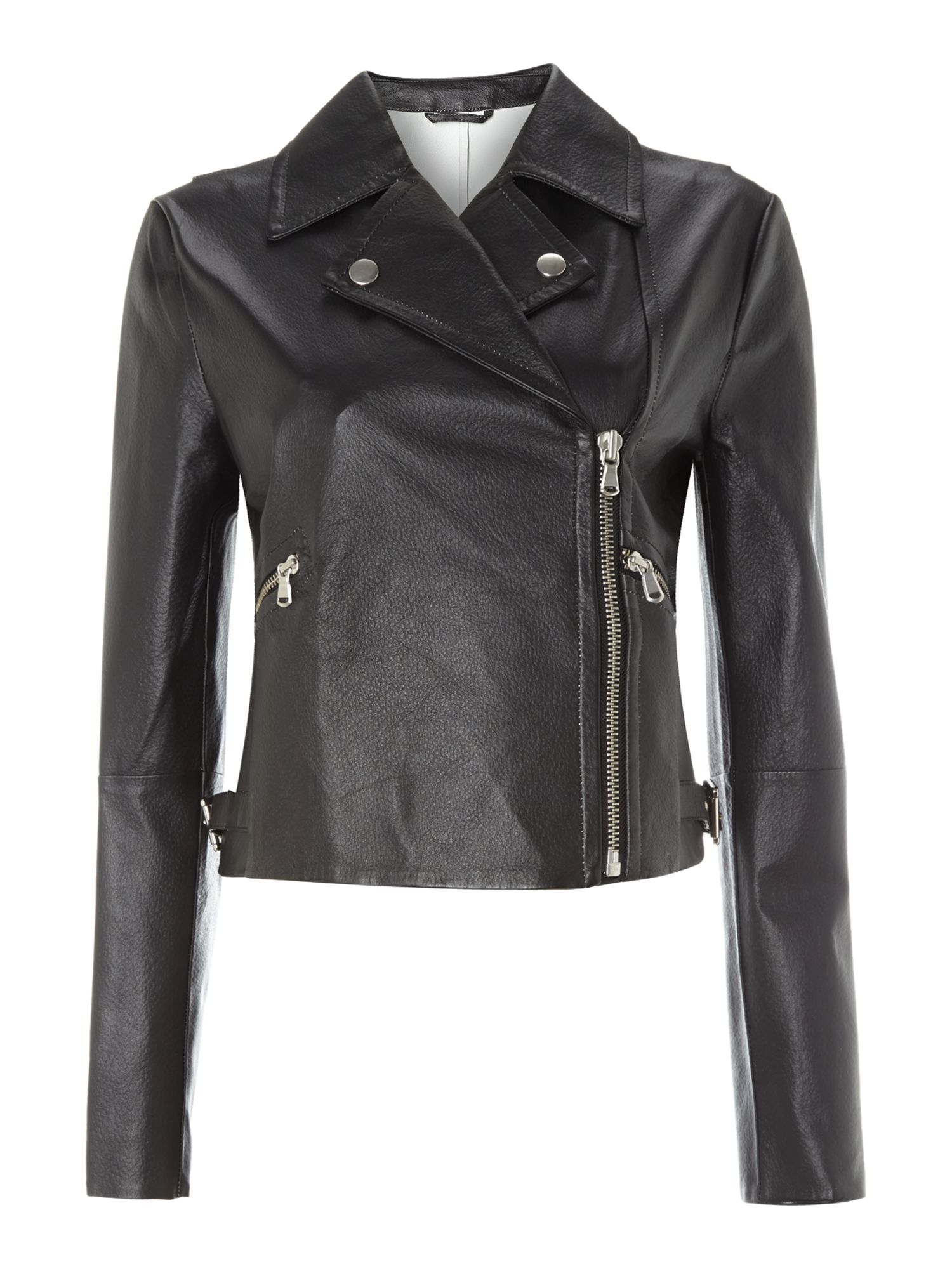 Sportmax Code Vicenza leather biker jacket, Black