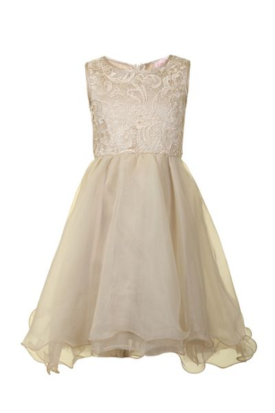 Little Misdress Girls layered lace dress