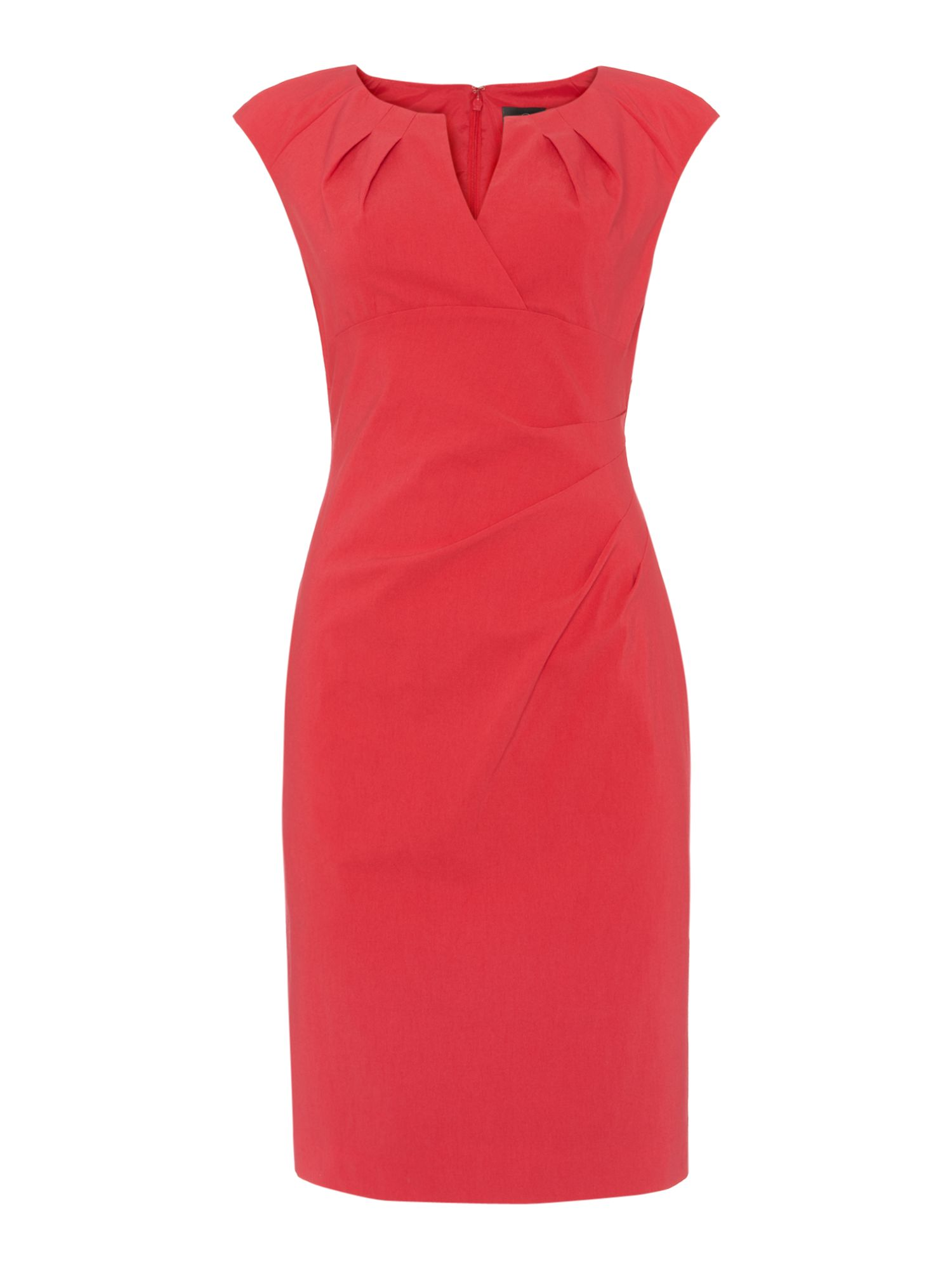 Side Pleat Shift Dress