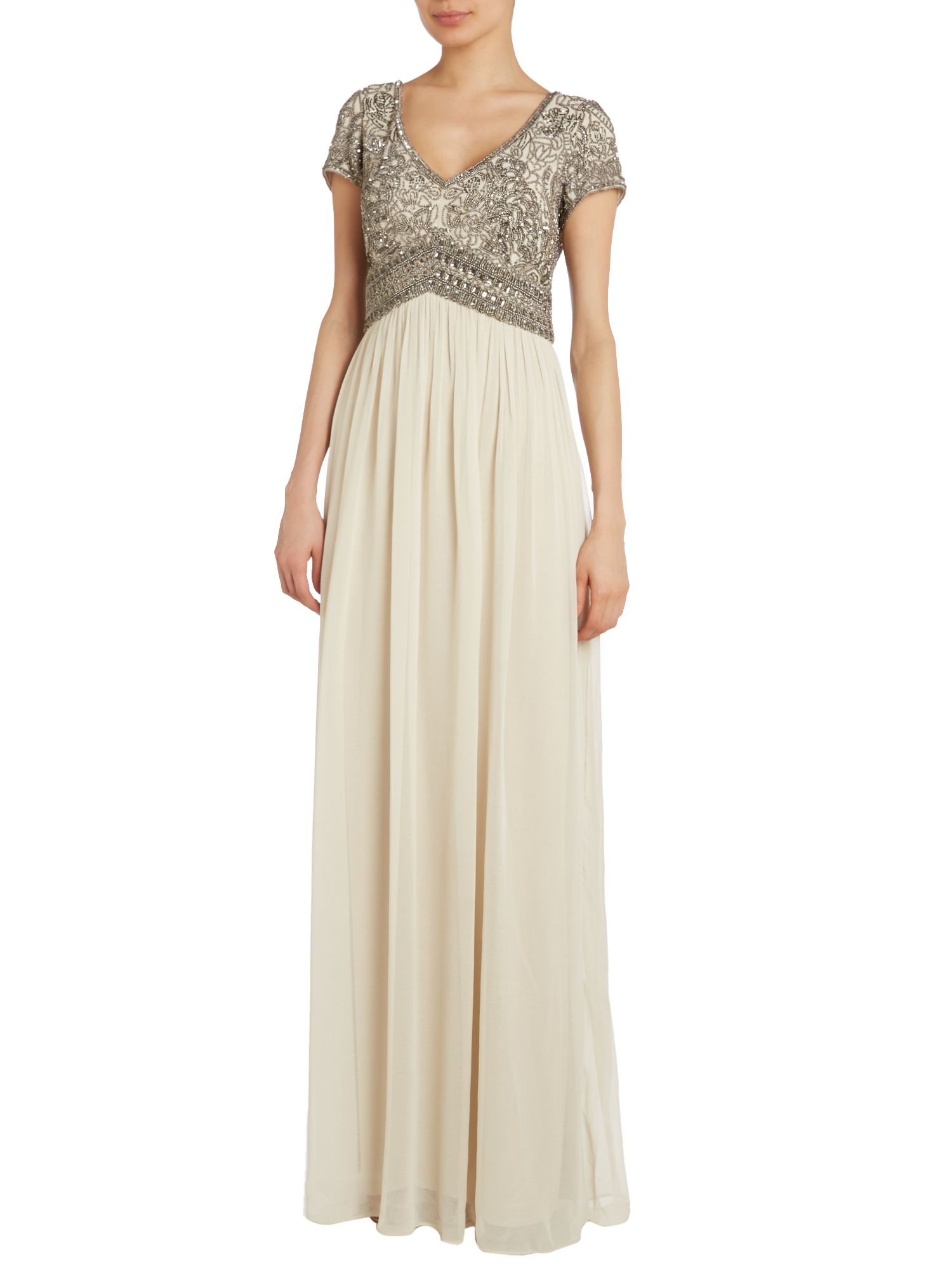 Beaded Top Empire Waist Dress