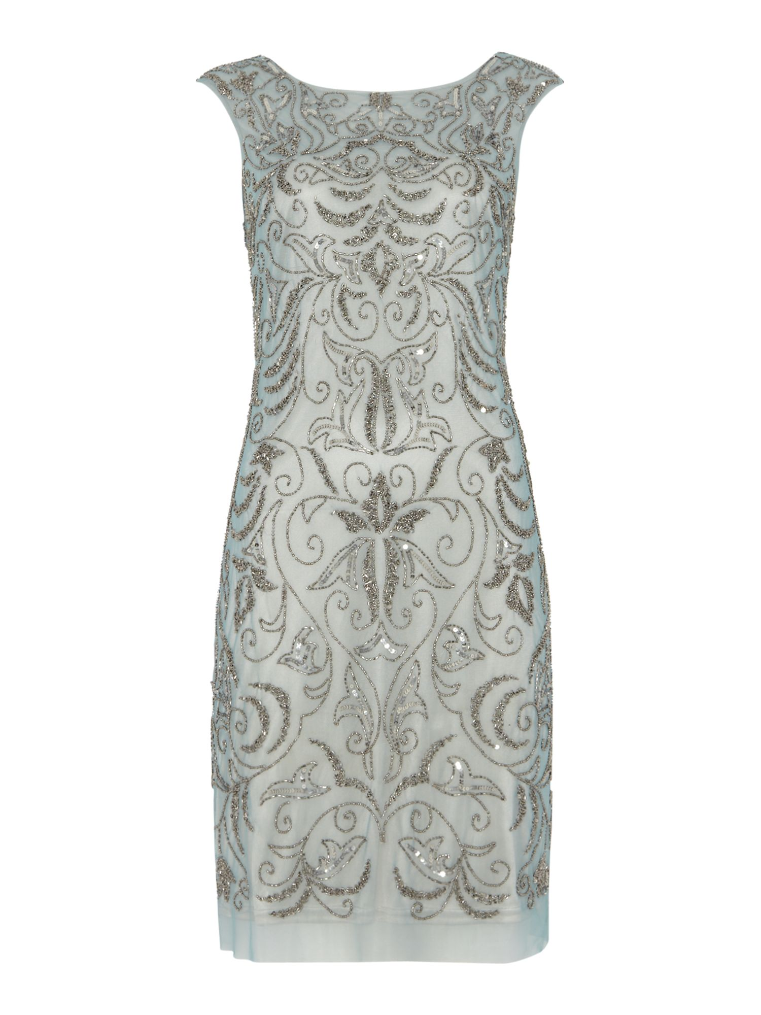 Brocade Beaded Dress