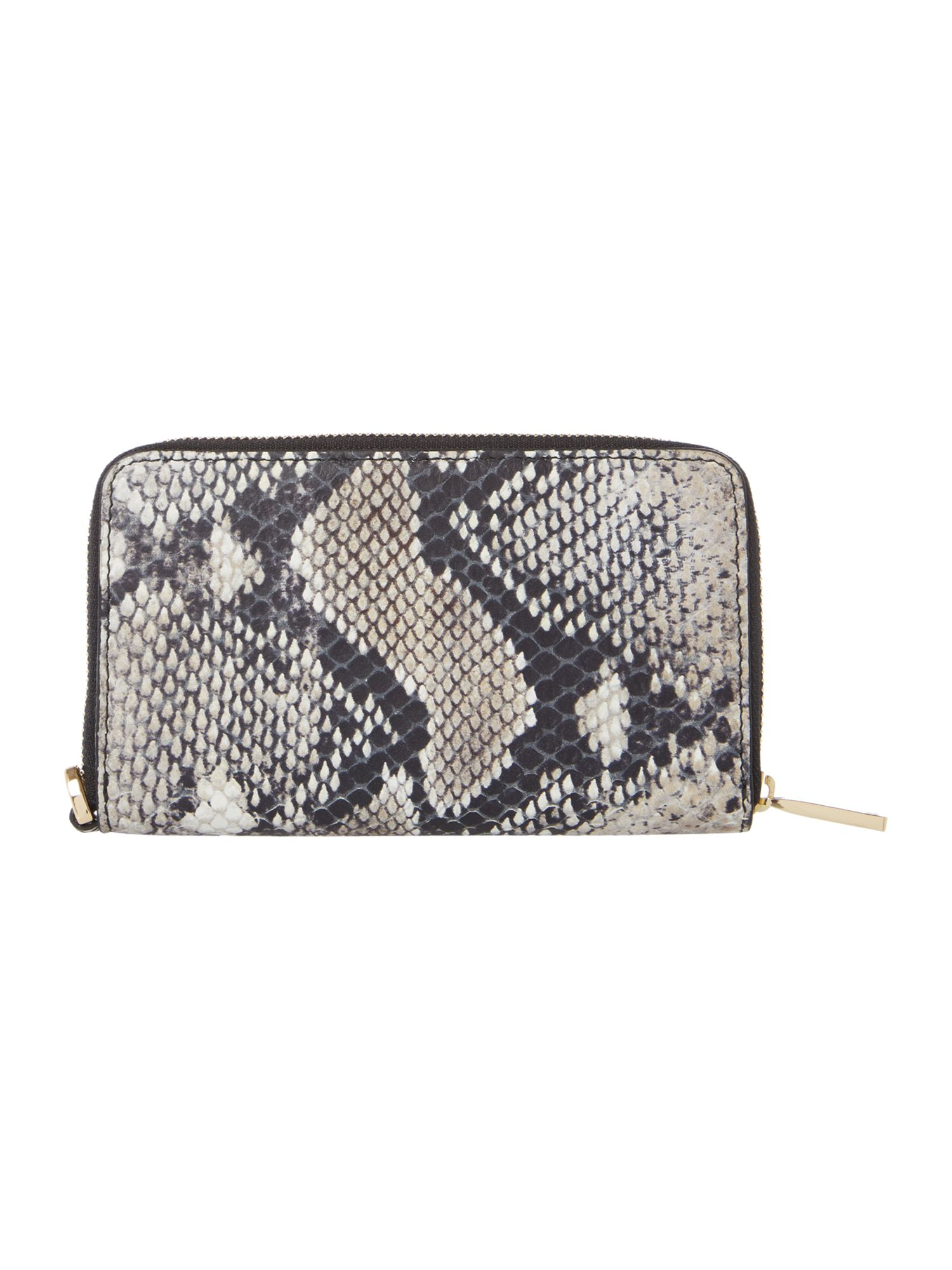 Clibi multi coloured snake zip around purse