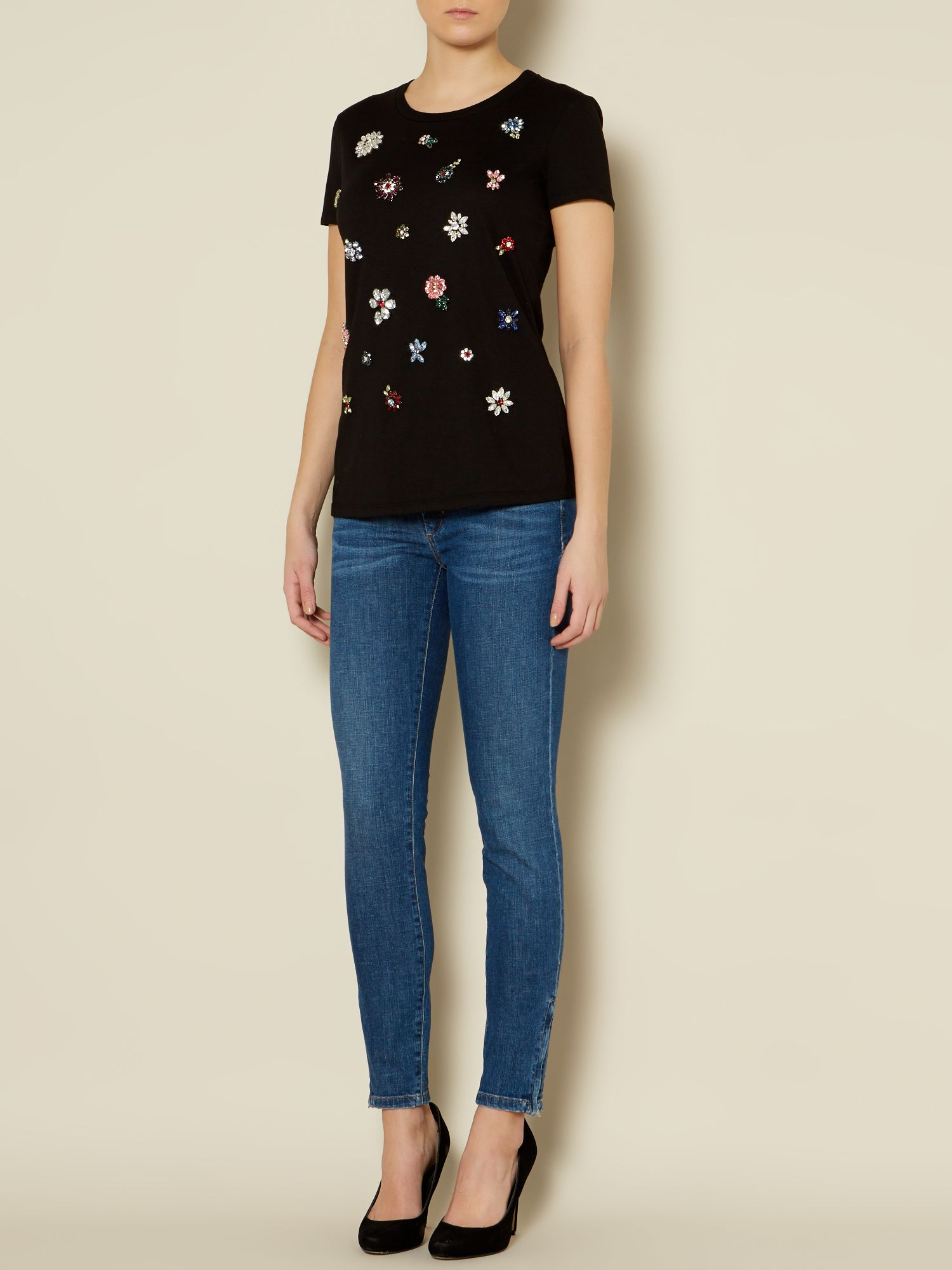 Canto Short sleeve crystal embellished tee