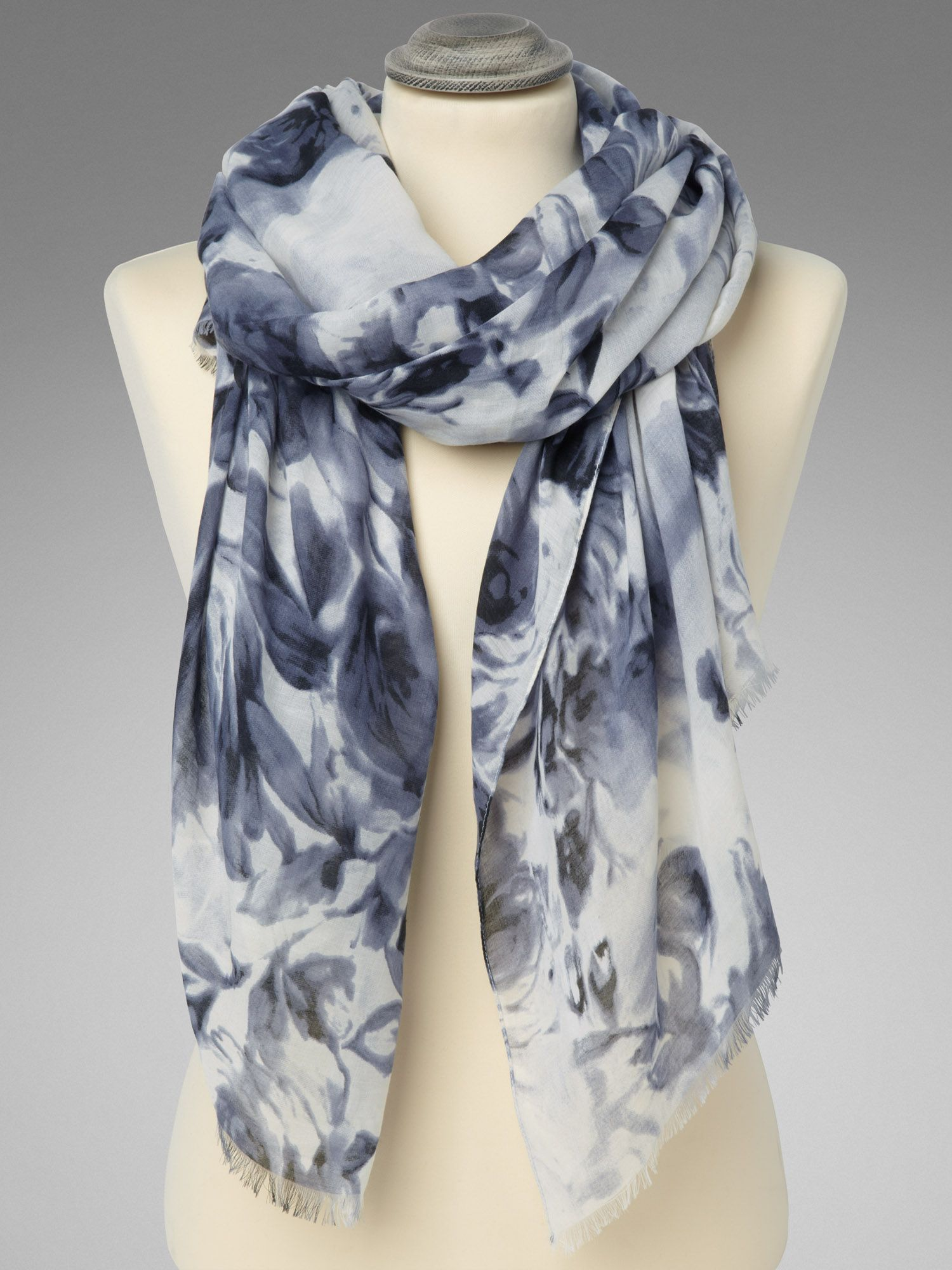 Two tone rose print scarf