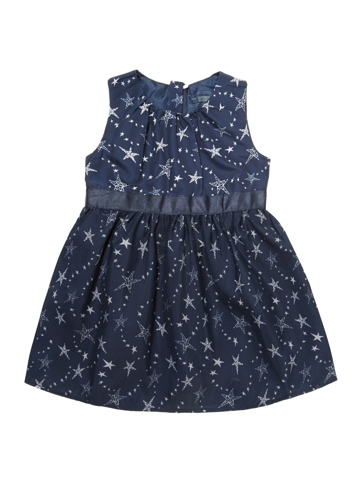 Girl`s star print dress