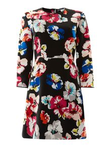 Sportmax Code Anabela long sleeve floral flare dress