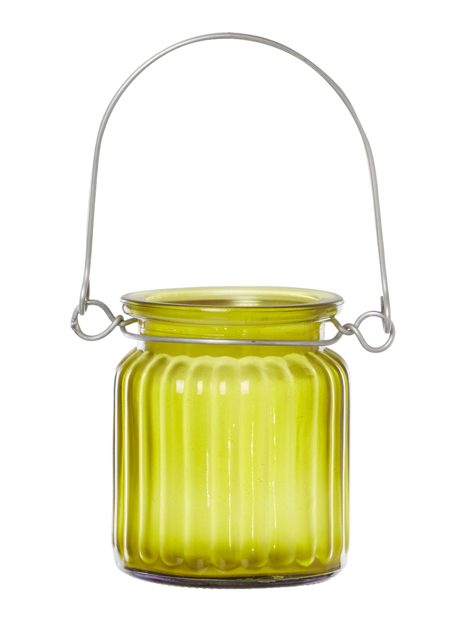 Glass tealight holder, green