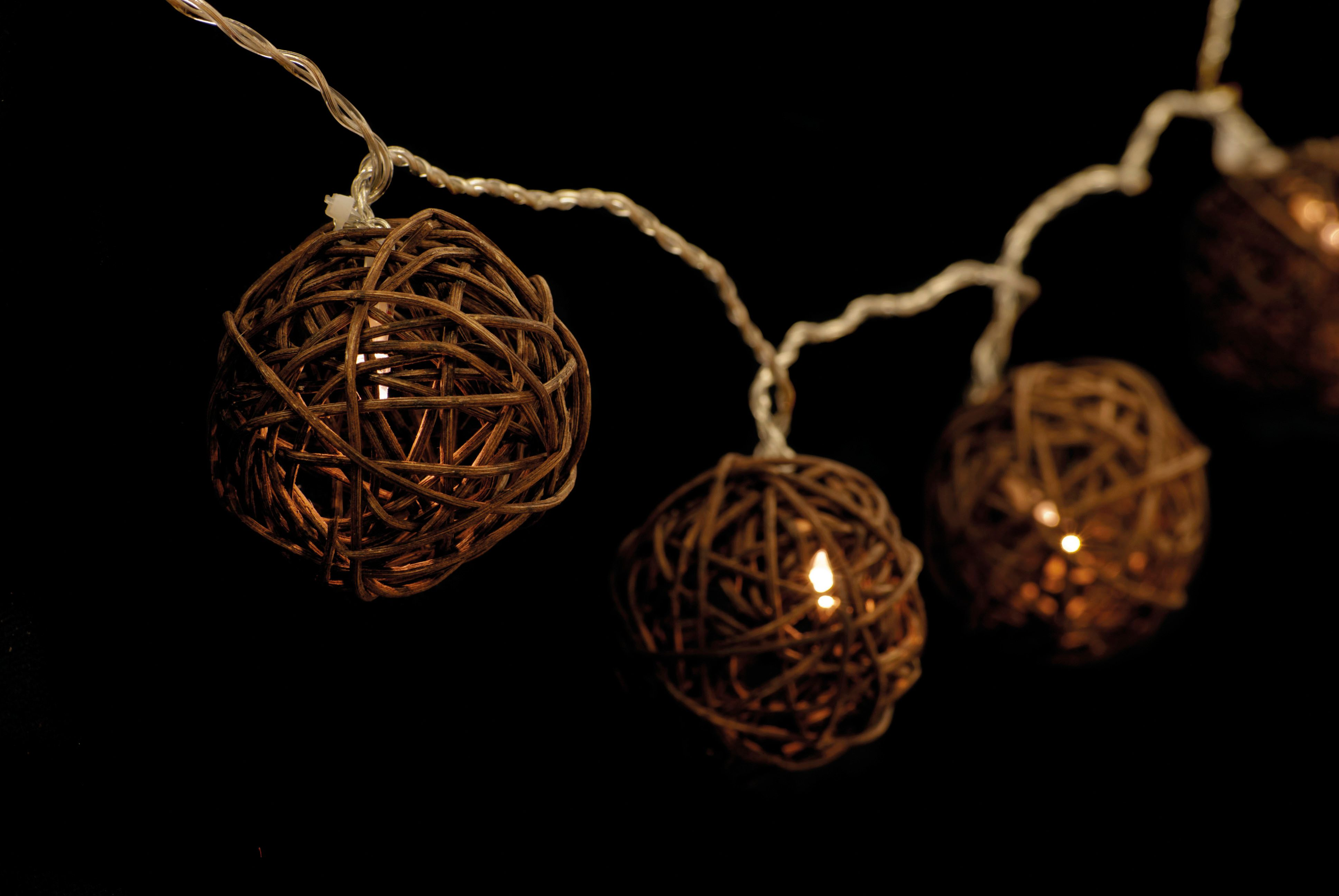 Rattan string lights