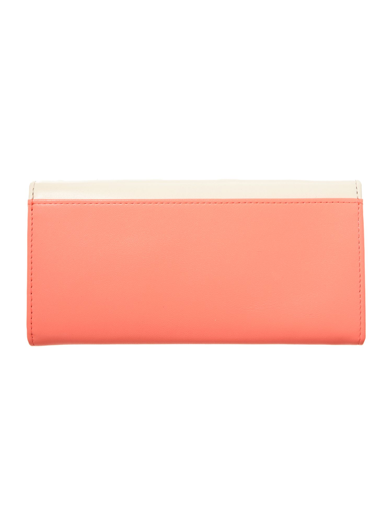 Bright Pink and Nude flapover purse