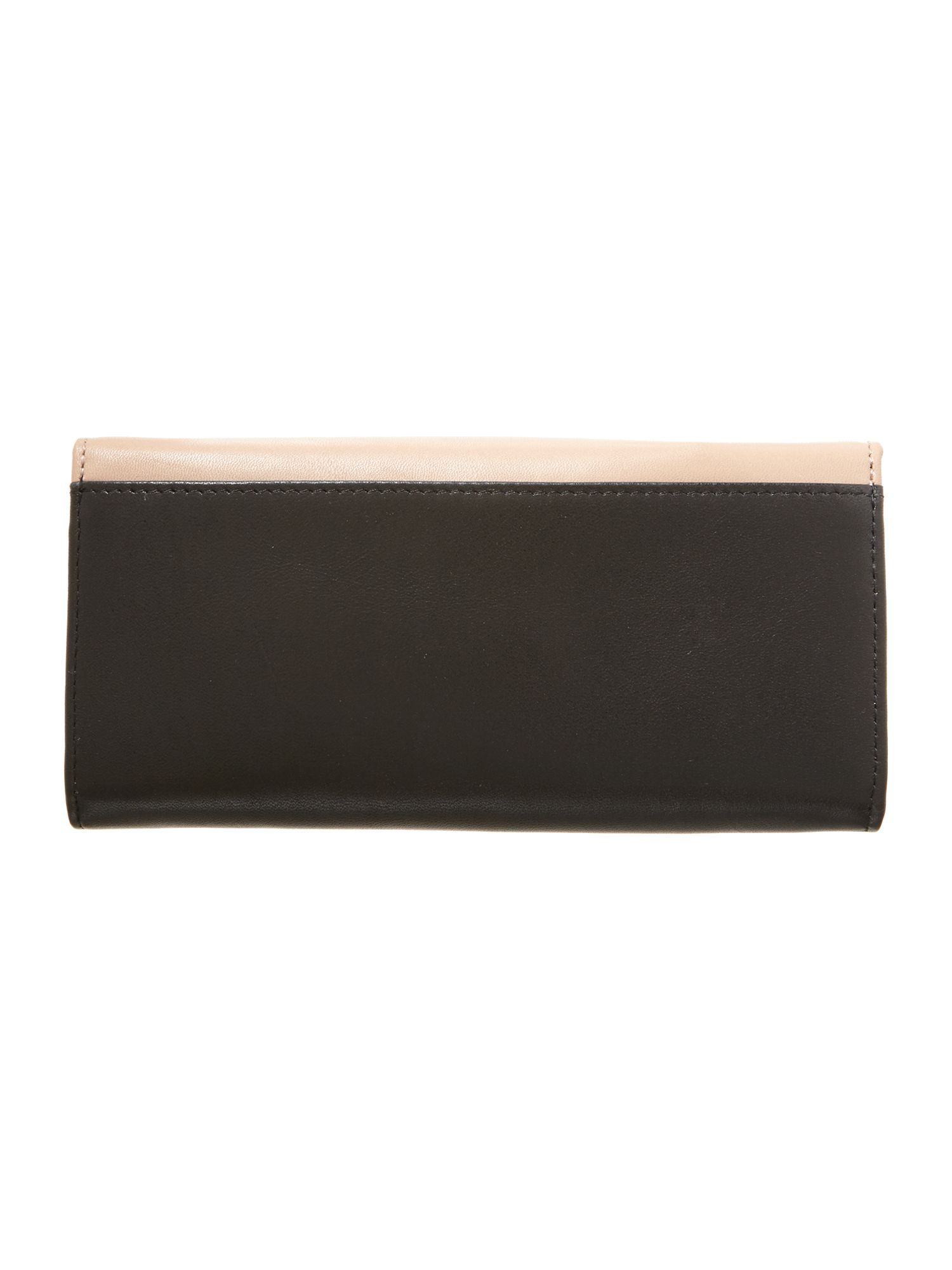 Black and Cream flapover purse
