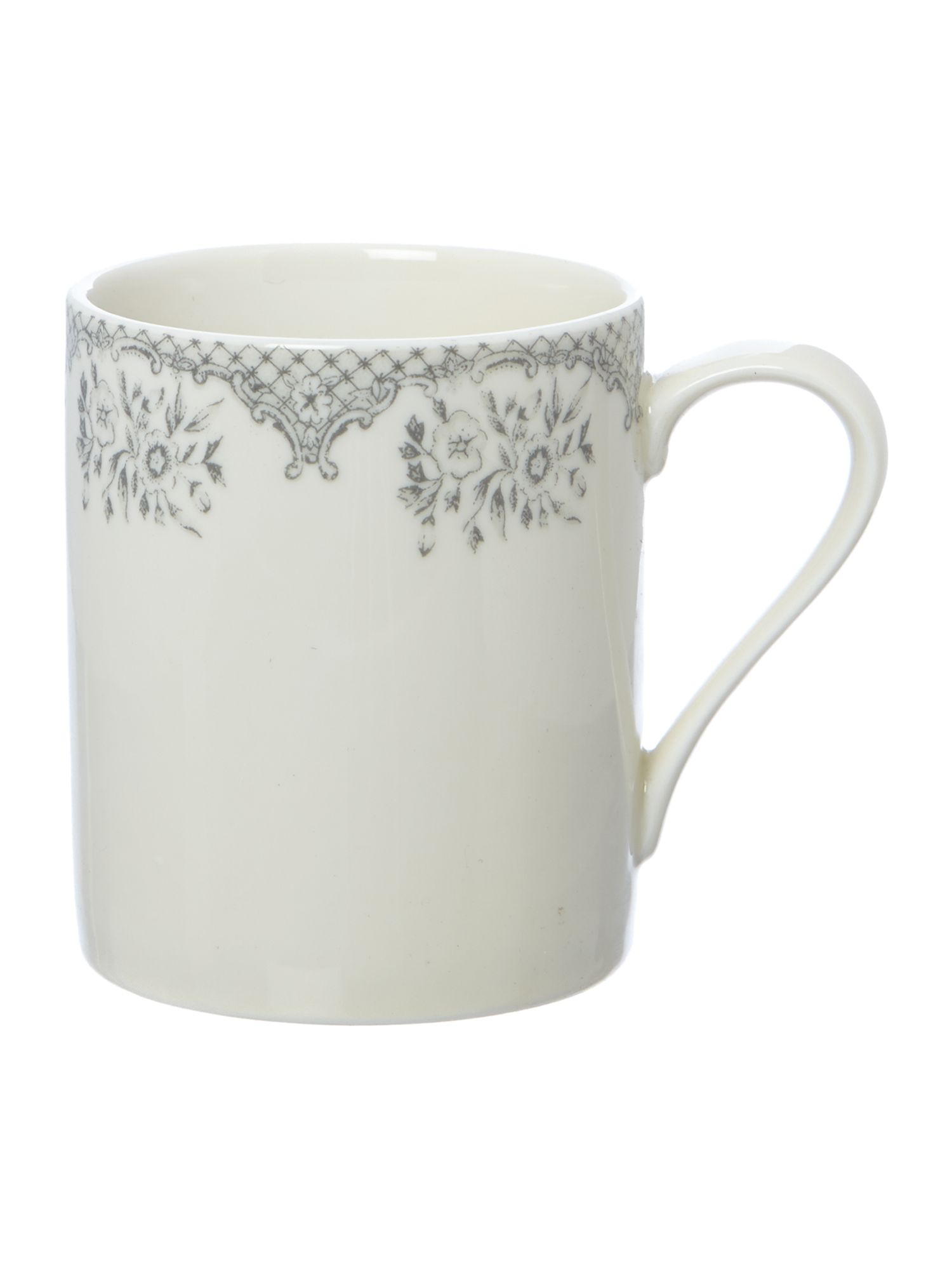 Kew grey large mug