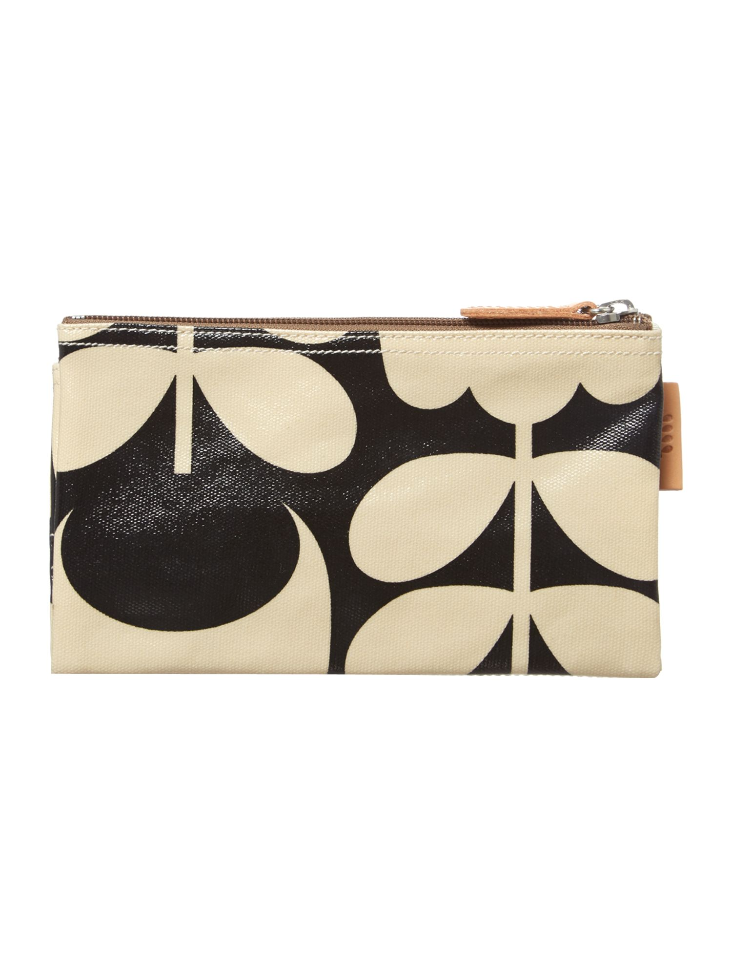 Cream zip travel pouch