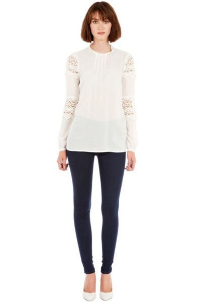 Warehouse Empress lace top