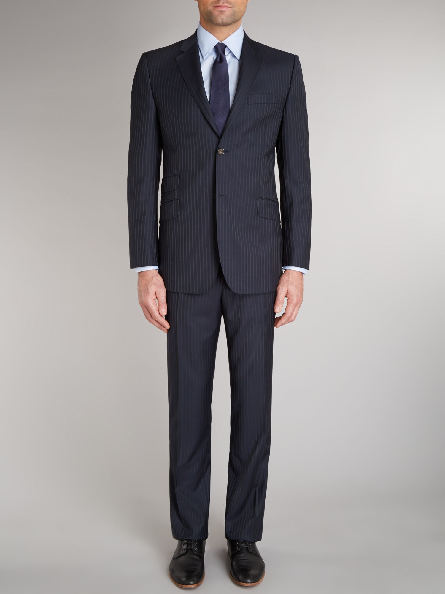 Francoz sterling regular fit pinstripe suit